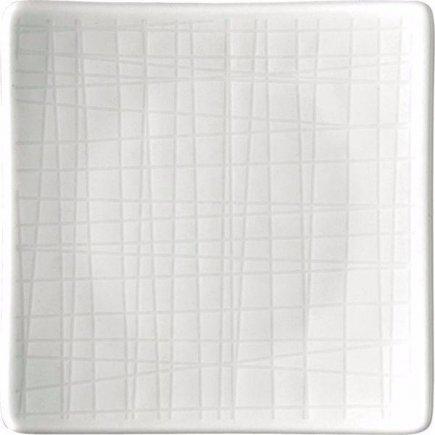 Tanier štvorcový Rosenthal Mesh 9x9 cm, biela