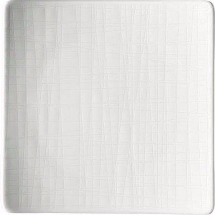 Tanier štvorcový Rosenthal Mesh 14x14 cm, biela