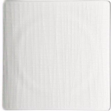 Tanier štvorcový Rosenthal Mesh 22x22 cm, biela