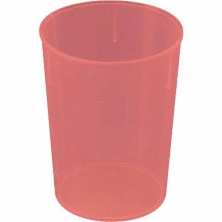 Kelímok plast Waca 250 ml, červený