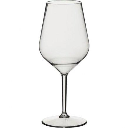 Pohár na víno plastový 470 ml, transparentný