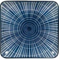 Tanier štvorcový Gusta Out Of The Blue 12,5x12,5 cm, dekor slnko