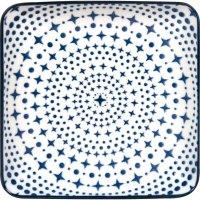 Tanier štvorcový Gusta Out Of The Blue 12,5x12,5 cm, dekor hviezdy