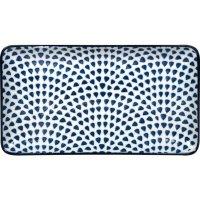 Tanier obdĺžnikový Gusta Out Of The Blue 22,5x12,3 cm, dekor kvapky