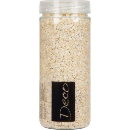 Dekorační farebný granulát v dóze 2-3 mm, champagne