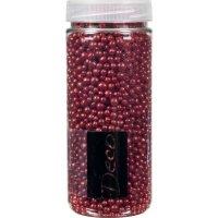 Dekoračné perly v dóze EuroSand 4-8 mm, červené