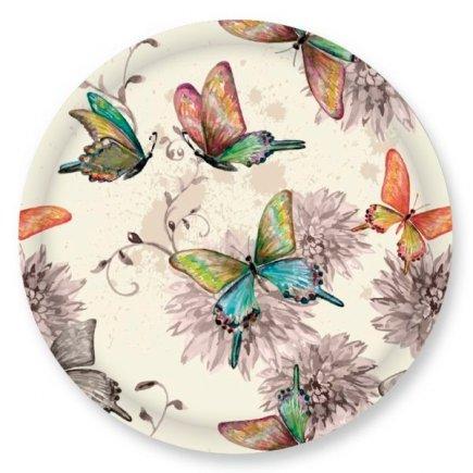 Skrutkovacie viečko Gastro 66 mm, dekor motýlikovia