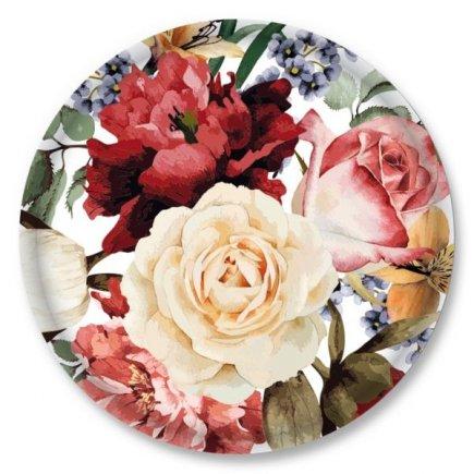 Skrutkovacie viečko Gastro 66 mm, dekor ruže