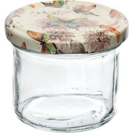 Zaváracie poháre Gastro 120 ml 6 ks, viečko dekor motýlikovia