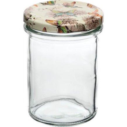 Zaváracie poháre Gastro 230 ml, vysoké, viečko dekor motýlikovia