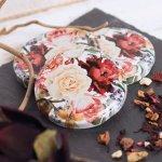 Zaváracie poháre Gastro 167 ml 6 ks, viečko ruže