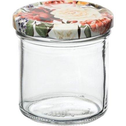 Zaváracie poháre Gastro 167 ml 6 ks, viečko dekor ruže