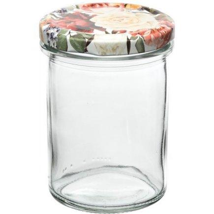 Zaváracie poháre Gastro 230 ml 6 ks, vysoké, viečko dekor ruže