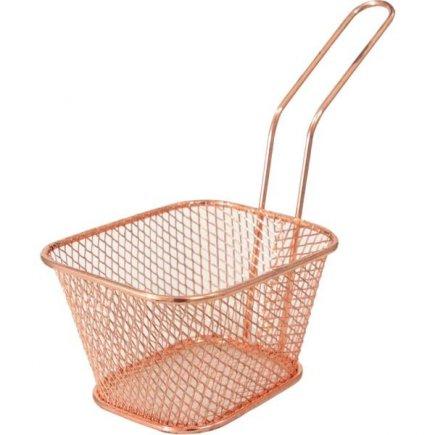 Košík pre servírovanie jedla Gastro 10,5x8,5x7cm, medený