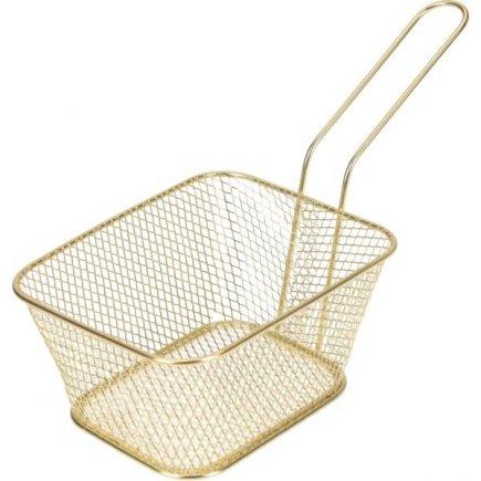 Košík pre servírovanie jedla Gastro 14x11x7 cm, zlatý