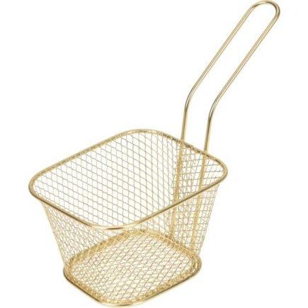 Košík pre servírovanie jedla Gastro 10,5x8,5x7 cm, zlatý