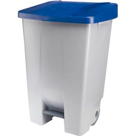 Odpadkový kôš nášľapný Gastro 80 l, sivá / modrá