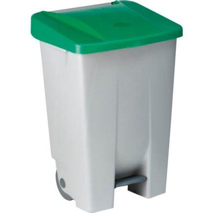Odpadkový kôš nášľapný Gastro 80 l, sivá / zelená