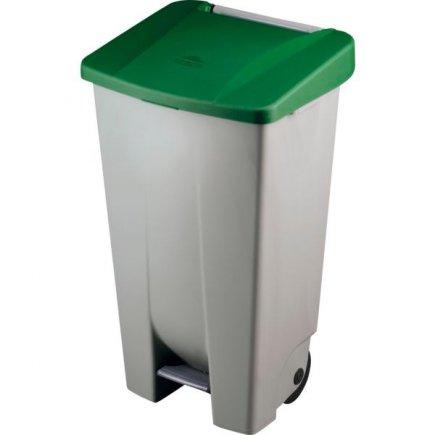 Odpadkový kôš nášľapný Gastro 120 l, sivá / zelená