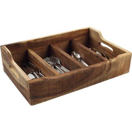 Príborník drevený 48x13,4x13 cm, natural