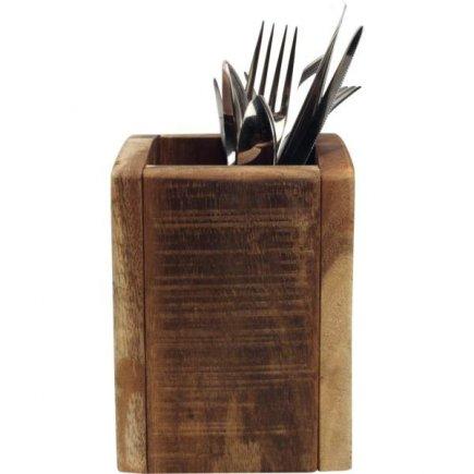 Príborník drevený 11x11x15 cm, natural