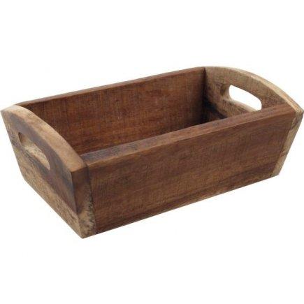Bednička na pečivo drevená Gastro 28,7x18x10 cm, natural