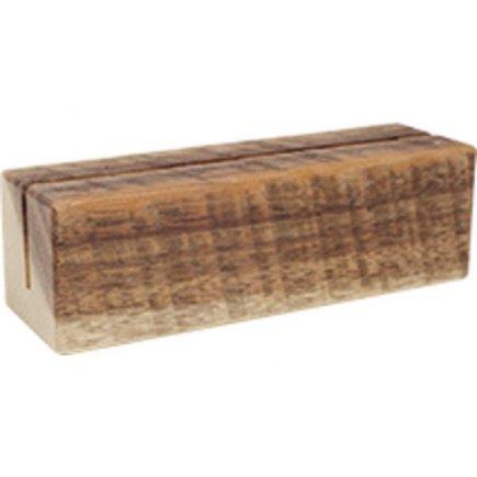 Stojan na menu kartu drevený Gastro 12x4x4x cm, natural