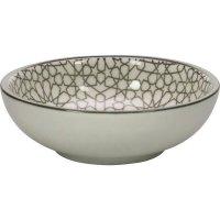 Miska okrúhla Gusta Table Tales 70 ml, sivá, dekor mozaika