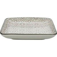 Tanier hranatý Gusta Table Tales 12,5x12,5 cm, sivý, dekor mozaika