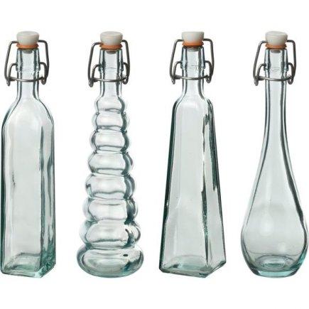 Fľaša s obloučkovým uzáverom Gastro 120 ml, zelená, rôzne druhy