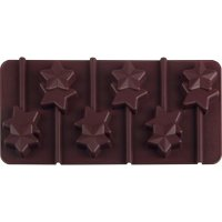 Silikónová forma na čokoládová lízatká Dr. Oetker, hviezdičky, vrátane tyčiniek