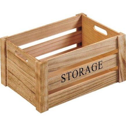 Bednička drevená Kesper Storage 40,5x30,5x20 cm, natur