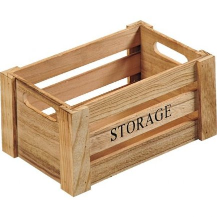 Bednička drevená Kesper Storage 25,8x17x13,5 cm, natur