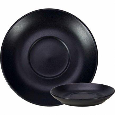 Podšálka keramická Gusta 10,5 cm, čierna