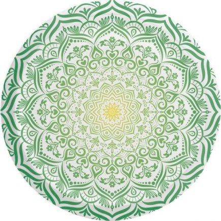 Skrutkovacie viečko Mandala 66 mm, zelené