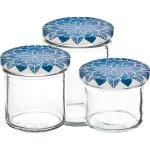 Zaváracie poháre Gastro 230 ml, vysoké, viečko dekor Mandala modré