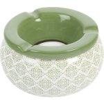 Popolník do vetra keramický Ornamenty 12 cm, zelený, rôzne motívy