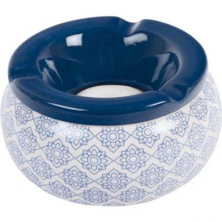Popolník do vetra keramický Ornamenty 12 cm, modrý, rôzne motívy