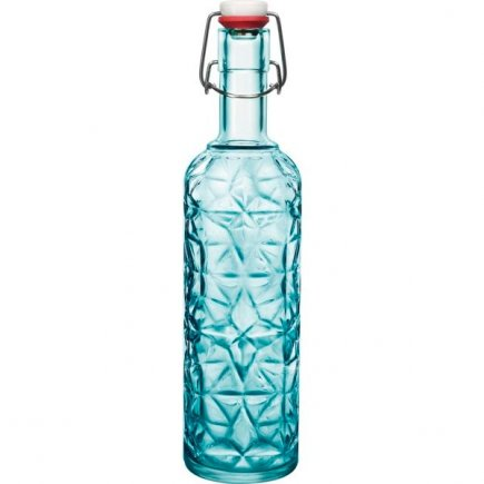 Fľaša Bormioli Rocco Oriente 1 l, modrá