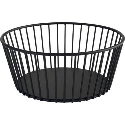 Košík kovový APS Urban 20 cm, čierny