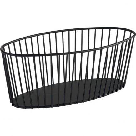 Košík kovový APS Urban 34x14 cm, čierny