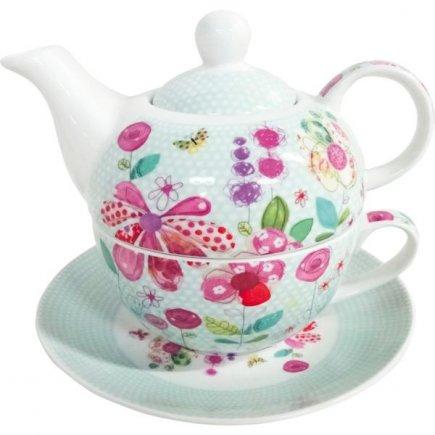 Sada na čaj Tea For One Kvety