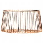 Dekorační košík kovový Cosy&Trendy 30 cm, měděný