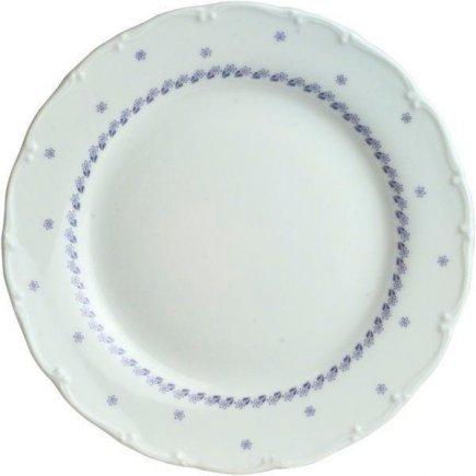 tanier plytký 19 cm porcelán, Ofelie - Modrá dekor, Gastro