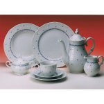 tanier plytký 25 cm porcelán, Ofelie - Modrá dekor, Gastro