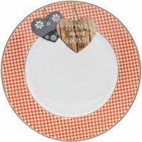 Tanier plytký Flirt by R&B Country Home 20,5 cm, červený