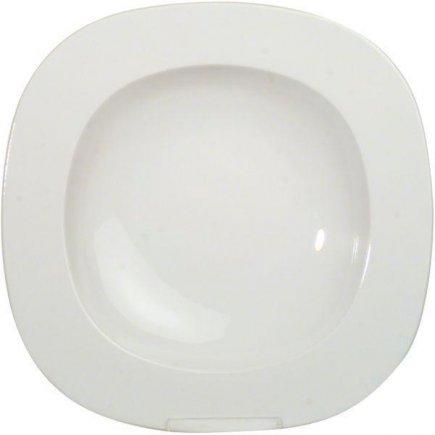 tanier hlboký hranatý 23 cm porcelán, Leon, Gastro