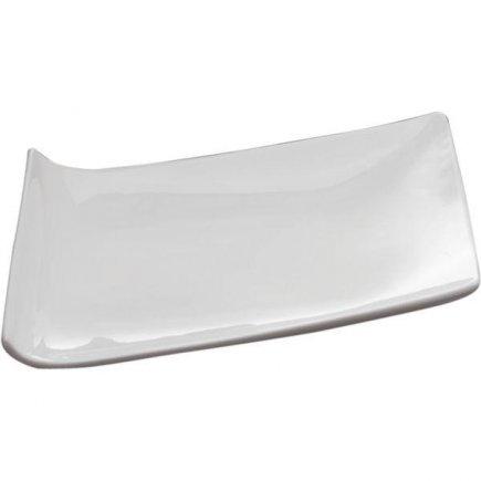 Tanier servírovací Sandra Rich Trapez 20x14 cm, biely